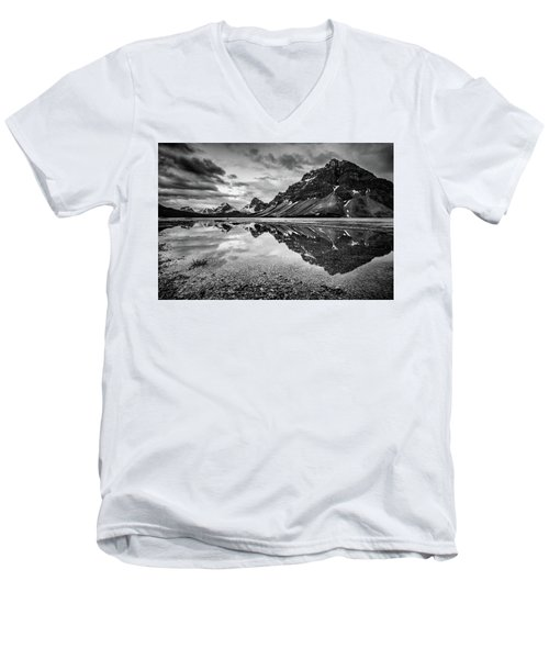 Men's V-Neck T-Shirt featuring the photograph Light On The Peak by Jon Glaser