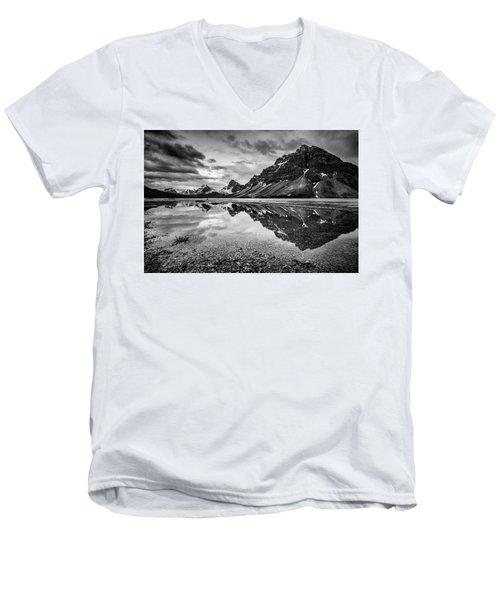 Light On The Peak Men's V-Neck T-Shirt by Jon Glaser