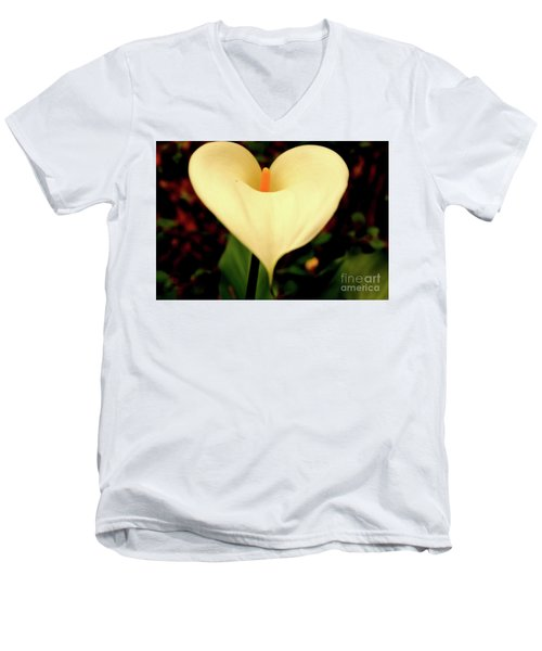 Lily Of The Valley Men's V-Neck T-Shirt by Cassandra Buckley