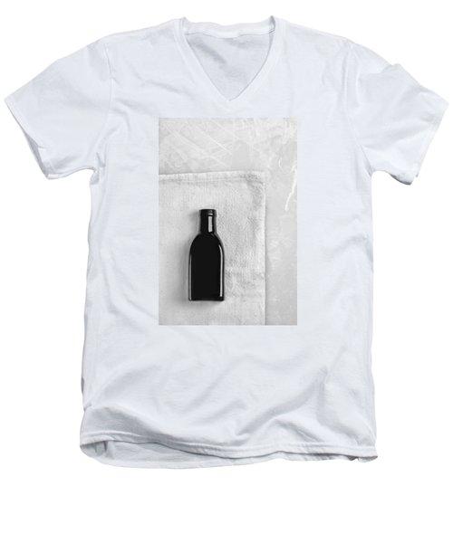 Men's V-Neck T-Shirt featuring the photograph Little Black Bottle  by Andrey  Godyaykin