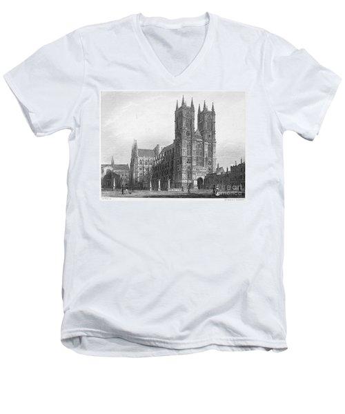 London: Westminster Abbey Men's V-Neck T-Shirt
