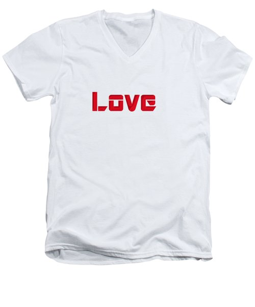 Love Men's V-Neck T-Shirt by Mim White