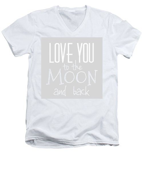 Love You To The Moon And Back Men's V-Neck T-Shirt