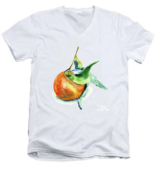 Mandarin Fruits Men's V-Neck T-Shirt