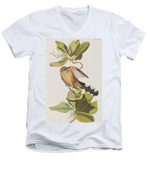 Mangrove Cuckoo Men's V-Neck T-Shirt by John James Audubon