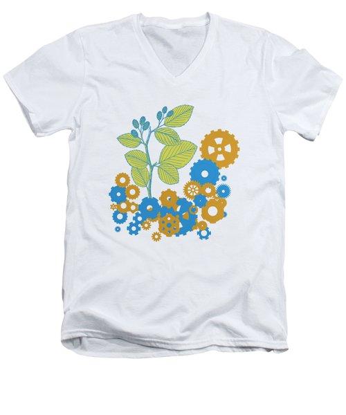 Mechanical Nature Men's V-Neck T-Shirt