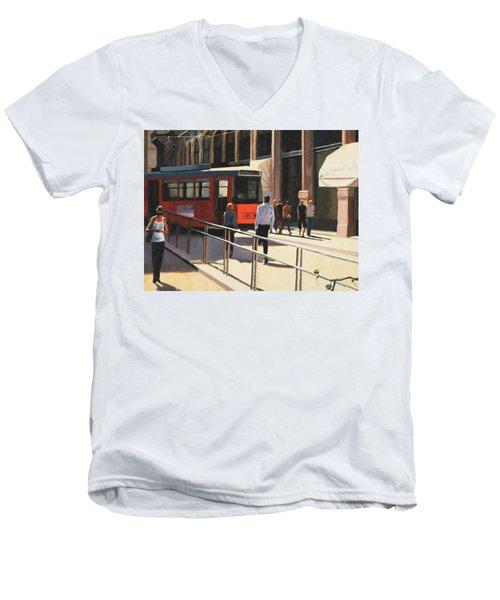 Milan Trolley Men's V-Neck T-Shirt