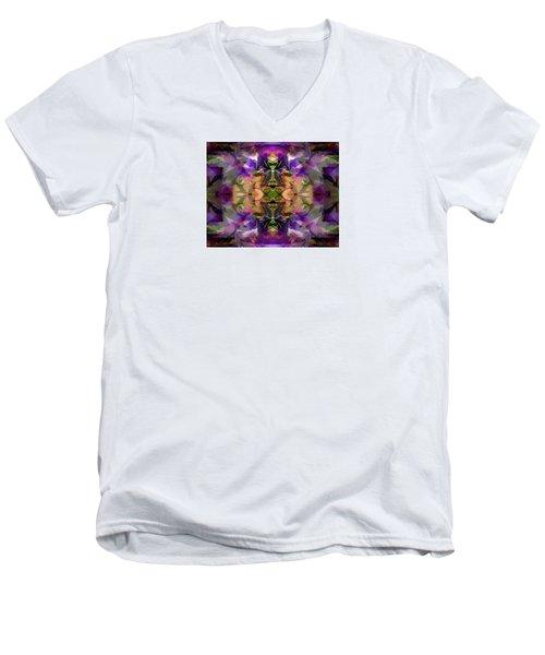 Men's V-Neck T-Shirt featuring the digital art Mind Portal by Lynda Lehmann