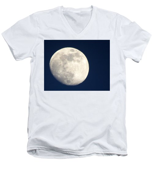 Moon In Blue Men's V-Neck T-Shirt
