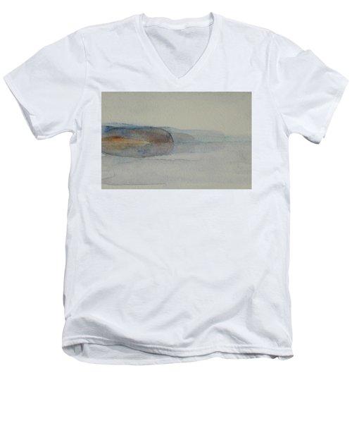 Morning Haze In The Swedish Archipelago On The Westcoast. Up To 36 X 23 Cm Men's V-Neck T-Shirt