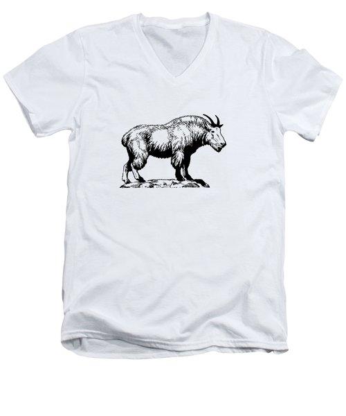 Mountain Goat Men's V-Neck T-Shirt