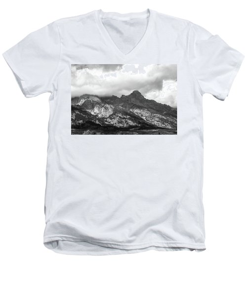 Men's V-Neck T-Shirt featuring the photograph Mountain Shadows by Colleen Coccia