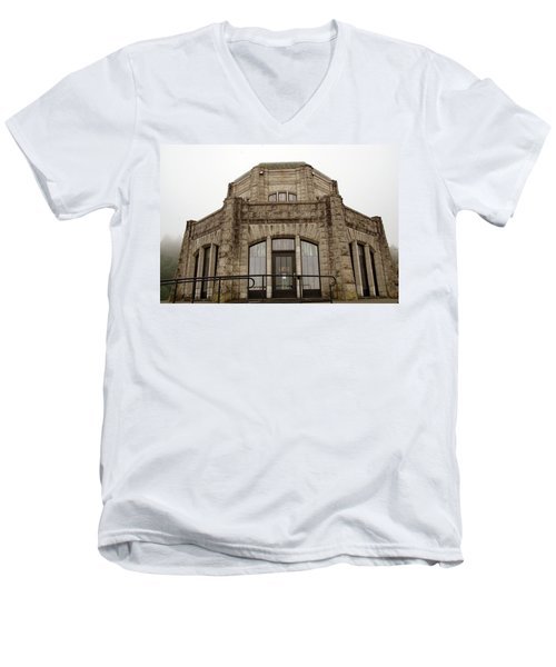 Vista House, Columbia River Gorge, Or. Men's V-Neck T-Shirt