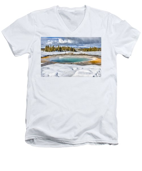 Nature's Painting Men's V-Neck T-Shirt by Yeates Photography