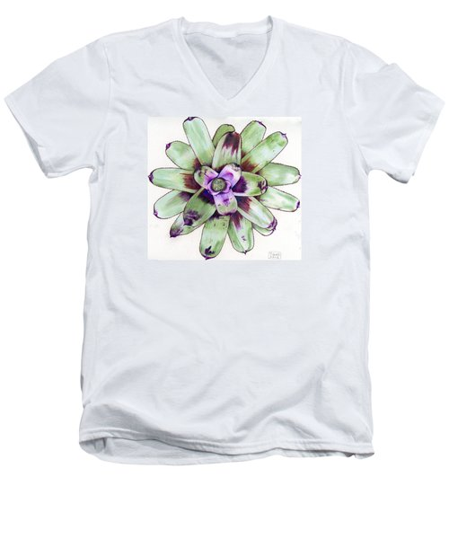 Neoregelia 'painted Delight' Men's V-Neck T-Shirt