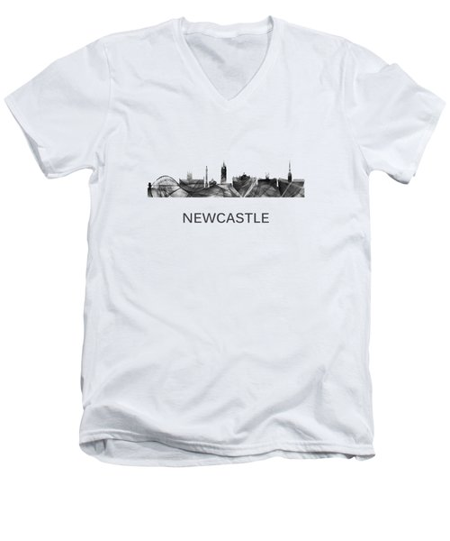 Newcastle England Skyline Men's V-Neck T-Shirt