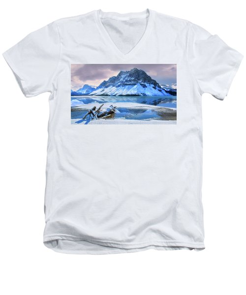 Men's V-Neck T-Shirt featuring the photograph Num Ti Jah by John Poon