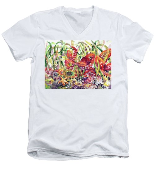 Octopus Garden Men's V-Neck T-Shirt