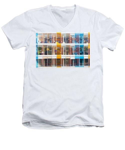 Office Windows Men's V-Neck T-Shirt by Colin Rayner