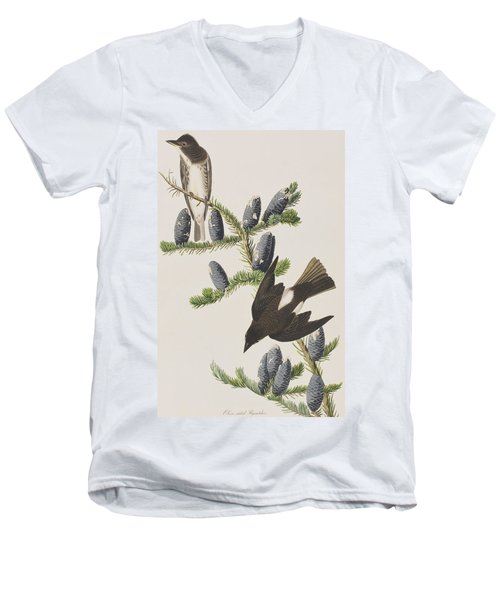 Olive Sided Flycatcher Men's V-Neck T-Shirt