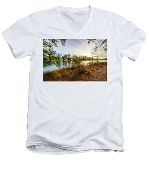 Over The River Men's V-Neck T-Shirt