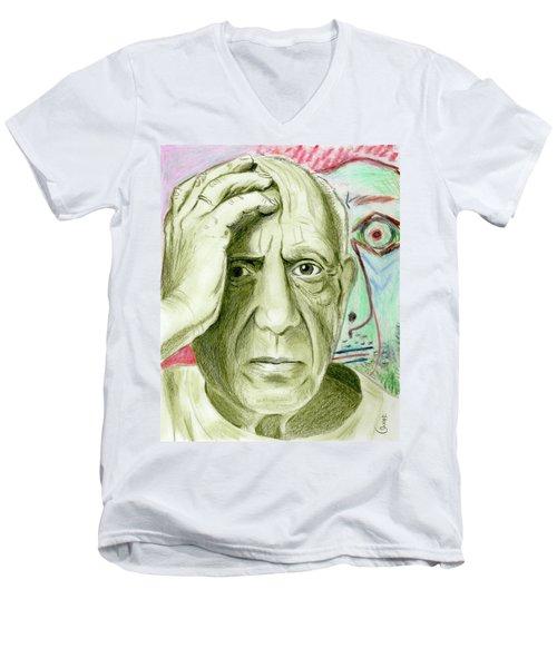 Pablo Piccaso Men's V-Neck T-Shirt