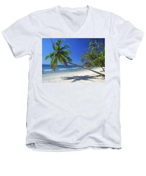 Pacific Coast Beach, Costa Rica Men's V-Neck T-Shirt