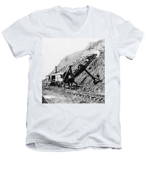 Panama Canal - Construction - C 1910 Men's V-Neck T-Shirt