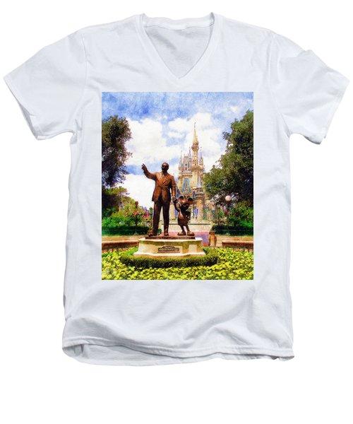 Partners Men's V-Neck T-Shirt by Sandy MacGowan
