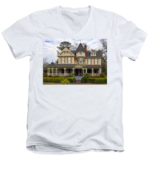 Peach Bainbridge Beauty Men's V-Neck T-Shirt
