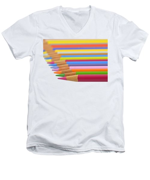Men's V-Neck T-Shirt featuring the photograph Pencils by George Atsametakis