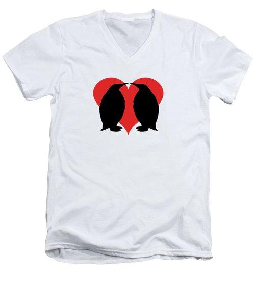 Penguins Men's V-Neck T-Shirt