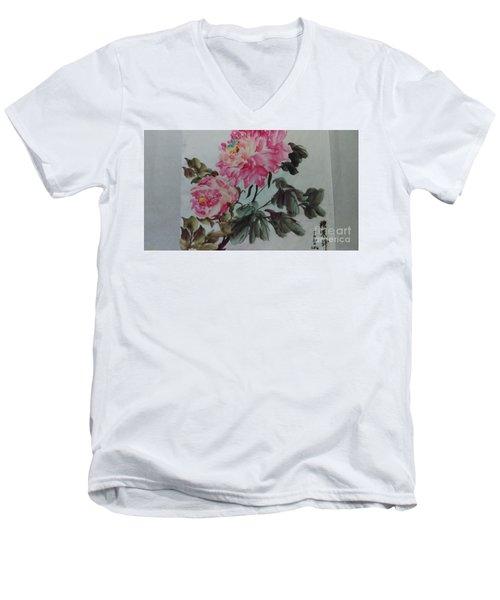 Peoney20161229_6 Men's V-Neck T-Shirt