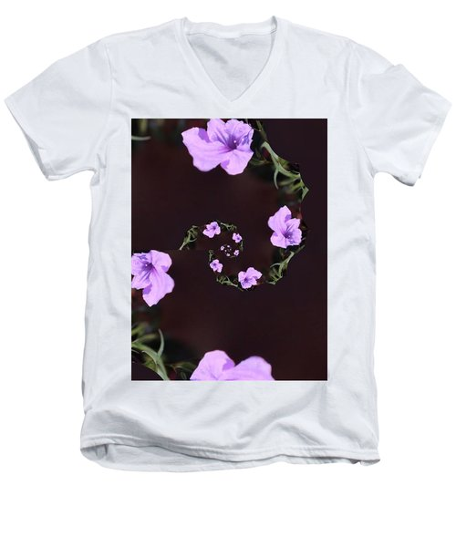 Men's V-Neck T-Shirt featuring the photograph Phone Case by Debra     Vatalaro
