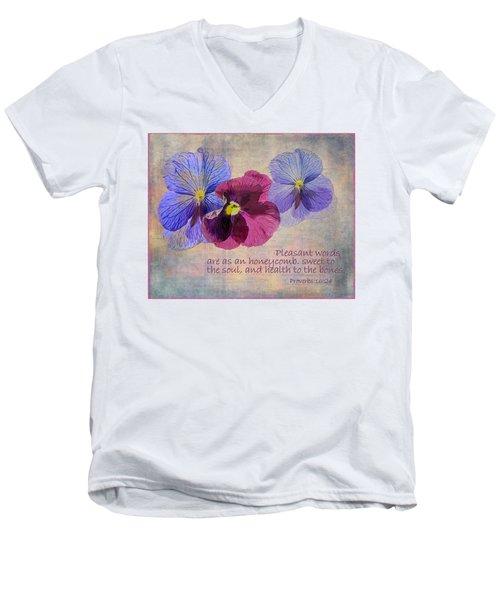 Pleasant Words Men's V-Neck T-Shirt