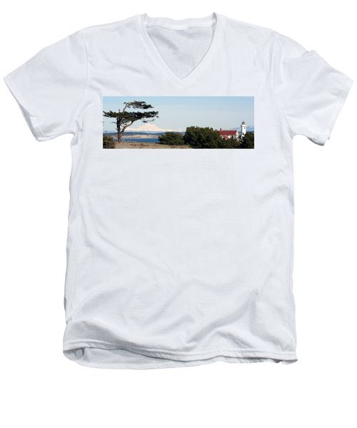 Point Wilson Lighthouse Men's V-Neck T-Shirt