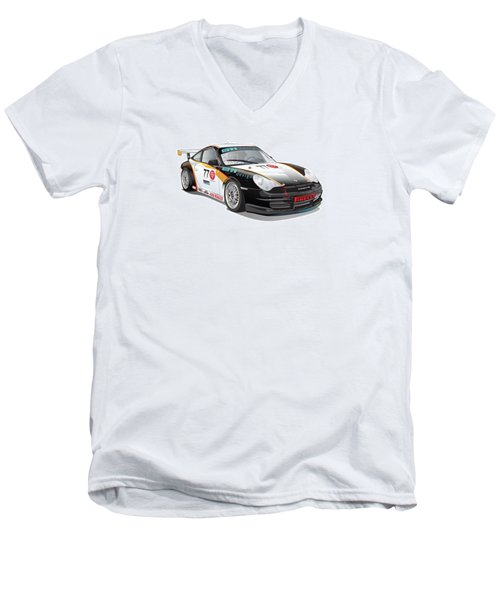 Porsche 996 Gt3 Cup Men's V-Neck T-Shirt