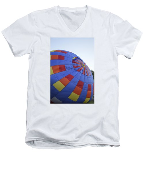 Men's V-Neck T-Shirt featuring the photograph Preparing For Lift Off by Linda Geiger
