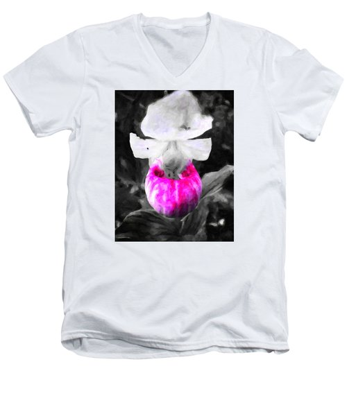 Pretty In Pink Men's V-Neck T-Shirt by Andre Faubert