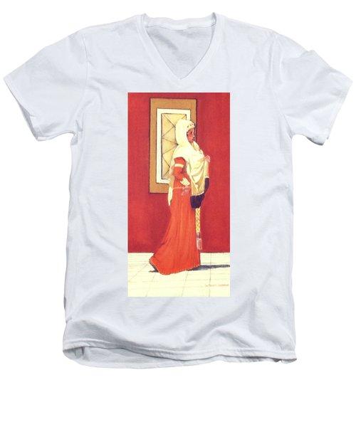 Princess Men's V-Neck T-Shirt by Catherine Swerediuk