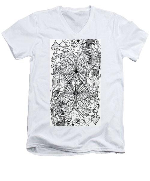 Queen Of Spades 2 Men's V-Neck T-Shirt
