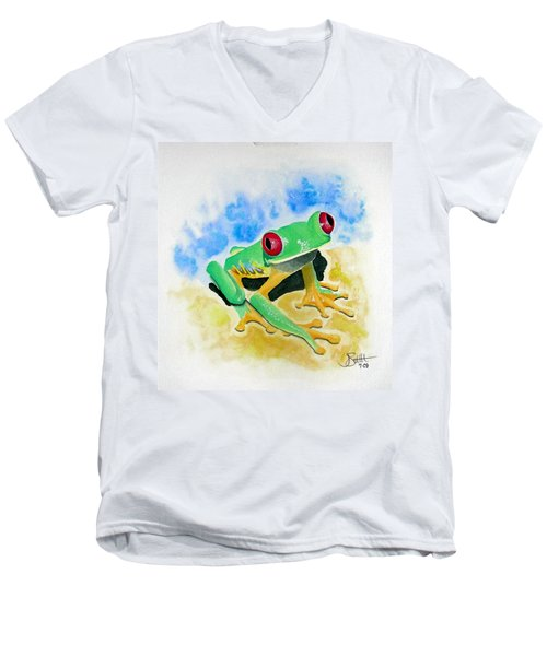 Red Eyed Tree Frog Men's V-Neck T-Shirt