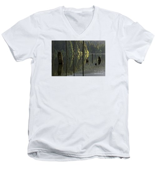 Men's V-Neck T-Shirt featuring the photograph Reflections by Inge Riis McDonald