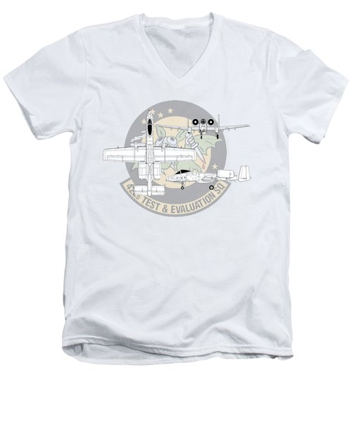 Republic A-10 Thunderbolt II Men's V-Neck T-Shirt by Arthur Eggers