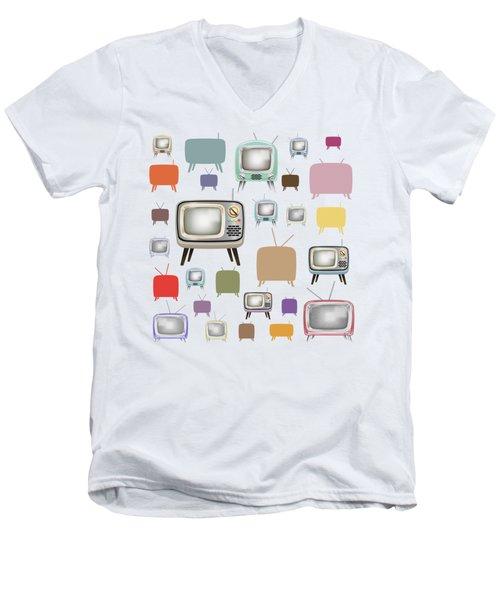 Retro T.v. Men's V-Neck T-Shirt