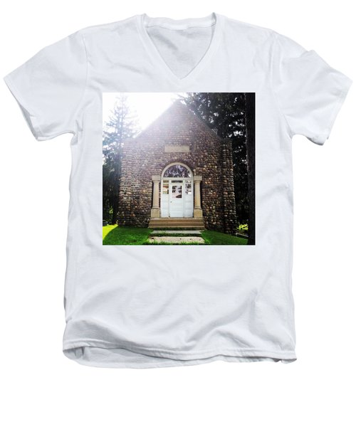 Riverside Cemetery Chapel Men's V-Neck T-Shirt
