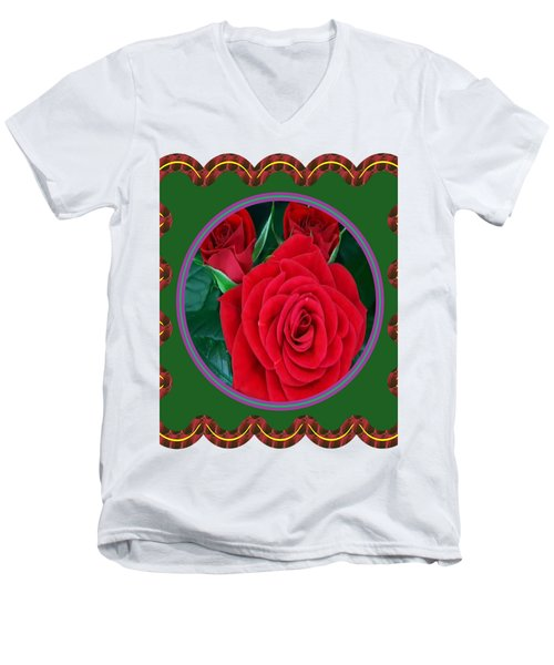 Rose Flower Floral Posters Photography And Graphic Fusion Art Navinjoshi Fineartamerica Pixels Men's V-Neck T-Shirt