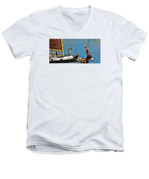 Men's V-Neck T-Shirt featuring the photograph Sail Boat by Werner Lehmann