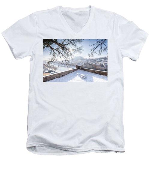 Salzburg Winter Dreams Men's V-Neck T-Shirt by JR Photography