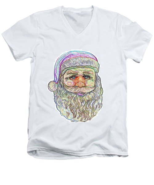 Men's V-Neck T-Shirt featuring the photograph Santa by Ludwig Keck